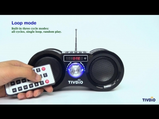 TIVDIO V-113 FM Radio Stereo Digital Radio Receiver Speaker USB Disk TF Card MP3 Music Player Camouflage