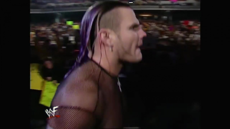 Jeff Hardy vs Chris Benoit Intercontinental Title Match Raw 12.18.2000