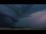 Мощная суперячейка в Porcupine, Южная Дакота,14.08.17