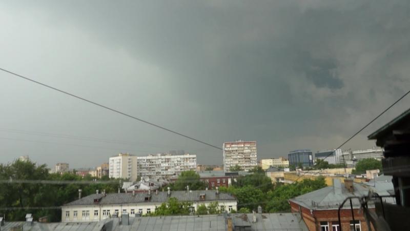 Москва. 30 июня 2017 года. Первая ударная волна стихии. Испытание градом.