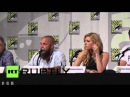 USA: By Odin's beard! Viking King Ragnar Lothbrok falls from stage at Comic Con