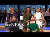 Каст сериала  Милые Обманщицы   на шоу  Доброе утро, Америка  18 апреля