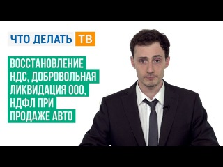 Восстановление НДС, добровольная ликвидация ООО, НДФЛ при продаже авто