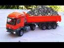 The Big Red Truck on the Road in the City | Cars Trucks Construction Cartoon for Kids