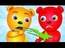 Mega Gummy bear Burping finger family rhymes for kids Gummybear ice cream fun
