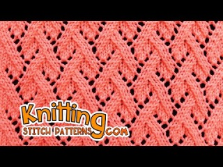Grapevine stitch | Lace Knitting 23