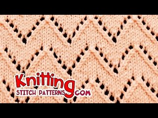 Chevron stitch | Lace Knitting 21