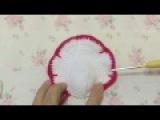 Crochet white rose petal D