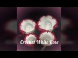 Crochet White Rose petal B 2