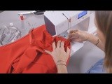 Sewing instructions for a red dress
