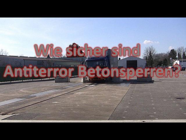 Wie sicher sind Antiterror Betonsperren? MDR-Umschau (11.04.2017)