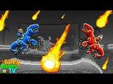 АТАКА ДИНОЗАВРОВ #2 Новое видео для детей игра как мультики машинки тачки гонки и...