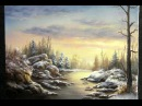 Painting Snowy Sunset Paint with Kevin Hill