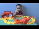 ТРЕК С ДИНОЗАВРОм Track with dinosaurs open toys, unpacking boxes