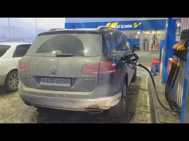 Расход Volkswagen Touareg V6 TDI 245 ps 2016г/Обзор владельца Туарег/Проверки показателей компь ...