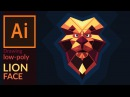 How to create a low poly vector Lion face in illustrator