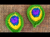 How To Crochet Peackcock Feathers Earrings - DIY Crafts Tutorial - Guidecentral