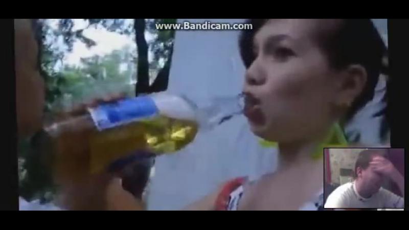 Моя реакция пьяные малолетки лезбиянки lesbians drink бухают перед дискотекой