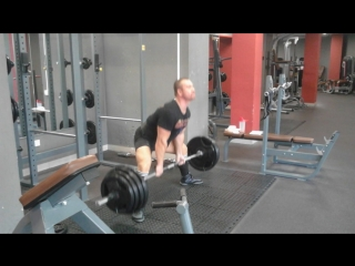 Тренировочный цикл√11 тяга 160кг 2×3...свой вес 85кг