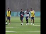 Тренировка Лионеля Месси в расположении сборной Аргентины
