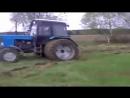 Гонка тракторов.Трактора буксуют в грязи забавно по бездорожью.Cмотреть видео онлайн.