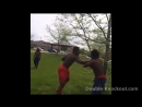 2 Piece Combo Knockout In Slow Motion For Talking Shit!