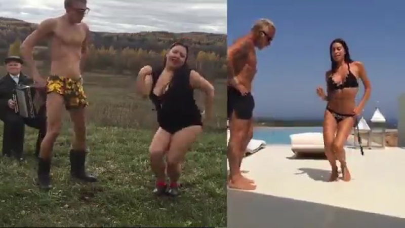 Пародия на танцы миллионера Джанлуки Вакки с женой от Bonyakuzmich