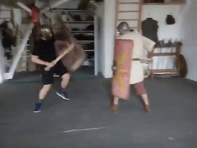 Кусочек тренировки legio v macedonica