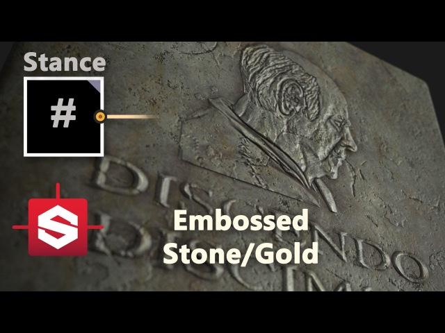 Embossed Rock Gold Substance Designer Material Breakdown