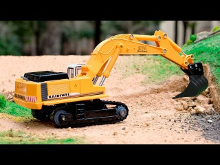 Compilation for children - The Excavator - Construction Vehicles Video for Kids