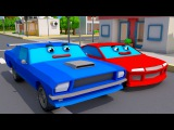 COLOR STREET CARS &amp Trucks w 3D Animation Cars Cartoon for kids and babies! Cars &amp Trucks Stories