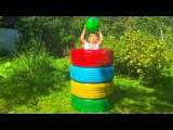 Learn Colors with Car Tires for Toddlers and Babies | Nursery Rhymes Songs Learns Colours Tire