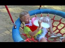 Bad Kid Crying Giant Bottle with Milk Baby Playing on Playground Learn Colors Family Fun Song