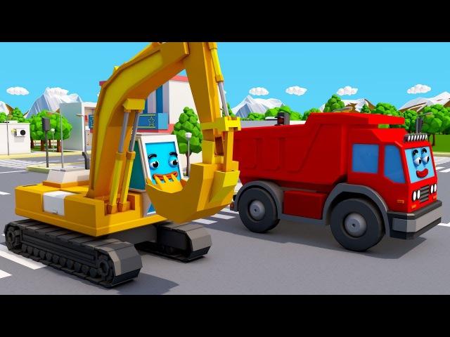 Koparki i Ciężarówki - Niespodzianka dla Auta | Agricultural machinery - Bajki dla dzieci 2017