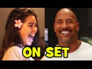 MOANA Behind The Scenes With The Voice Cast - Dwayne Johnson, Auli'i Cravalho (B-Roll Bloopers)