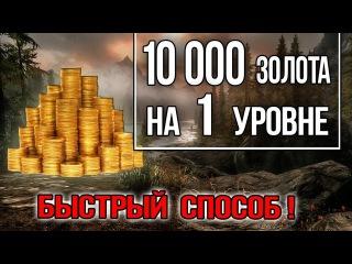 Skyrim - 10000 ЗОЛОТА в начале игры на Легендарной сложности Секретный тайник Гильдии...