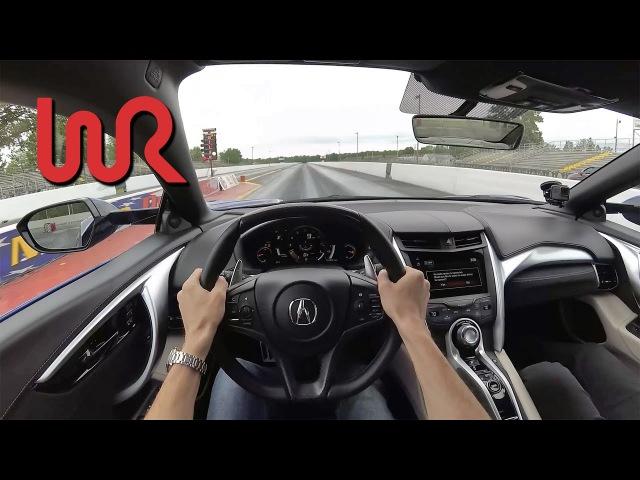 1/4 Mile Testing the 2017 Acura NSX - WR POV (Binaural Audio)