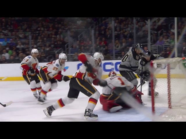 Devin Setoguchi Scores His 2nd Goal of the Game on Brian Elliott | Kings Lead Flames 4-0