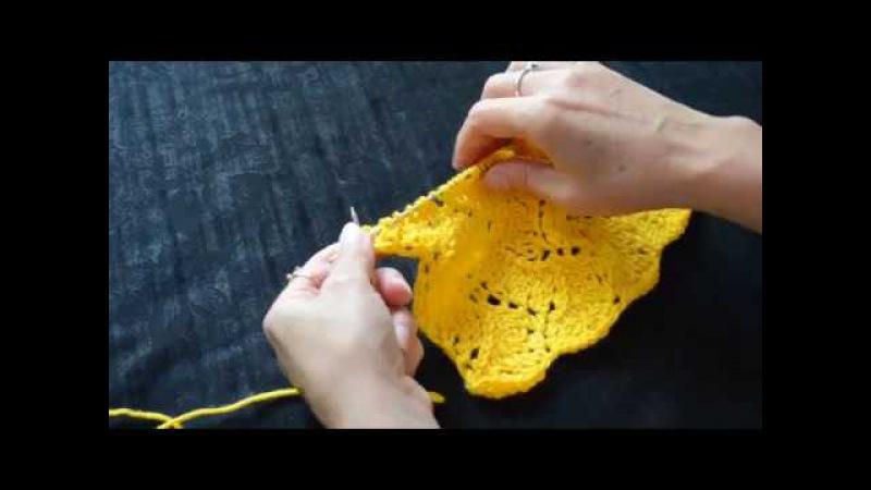 Вязание. Узор Ажурный нежный спицами. Knitting