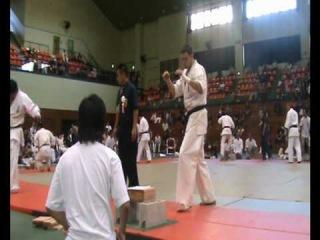 Daniel Bukowy Kyokushin fighter in Japan