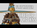 Flat hatter process sped up