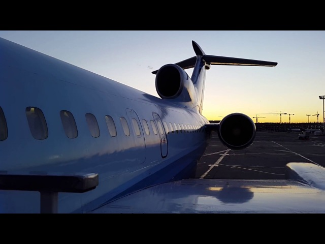 Alrosa Tu-154M RA-85684 Engine Start, Taxi Takeoff from Moscow DME