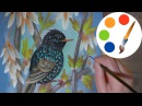 How to paint a Bird, One stroke, irishkalia