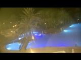 Ночной вид из номера в отеле на Кипре