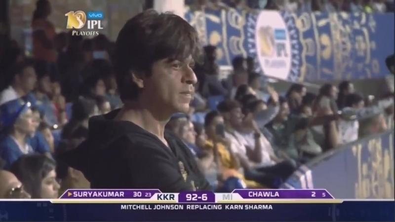 Shah Rukh Khan at Bengaluru Stadium MI v KKR match 2