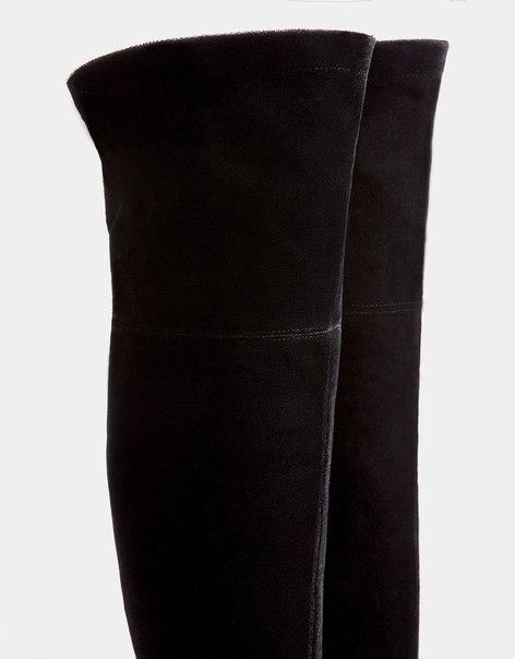 Ботфорты с эластичным голенищем из бархата