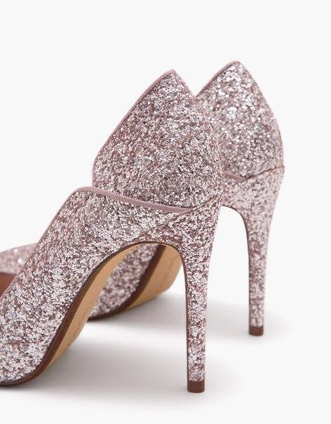 Блестящие туфли на каблуке-шпильке