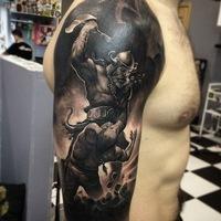 Татуировки на спине фото воина
