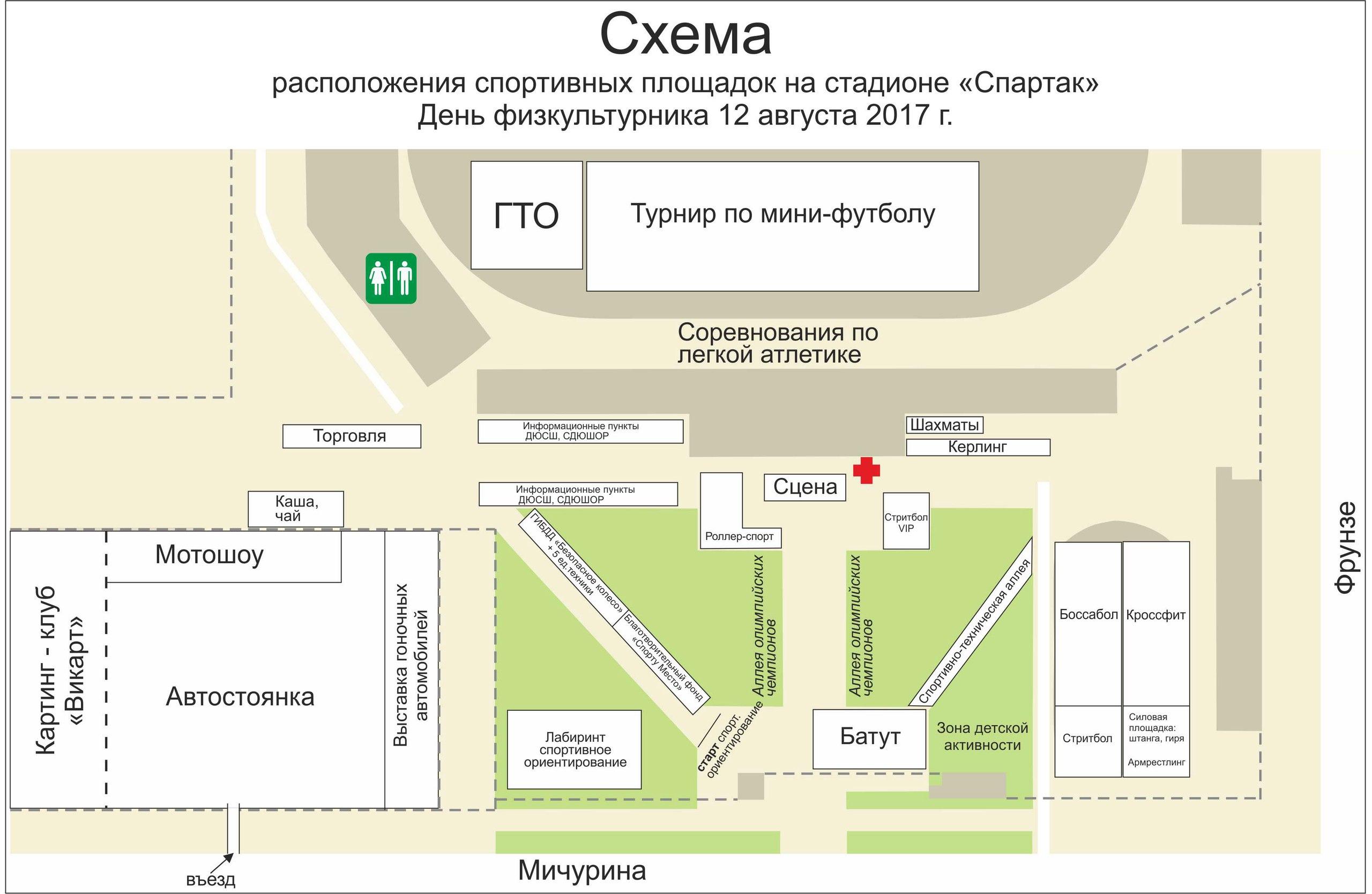 схема расположения площадок