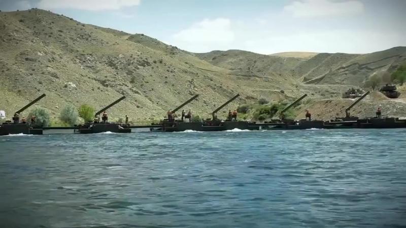 FNSS Самур Турецкий автомобиль амфибия мостоукладчик FNSS Samur Turkish Amphibious Vehicle Launc